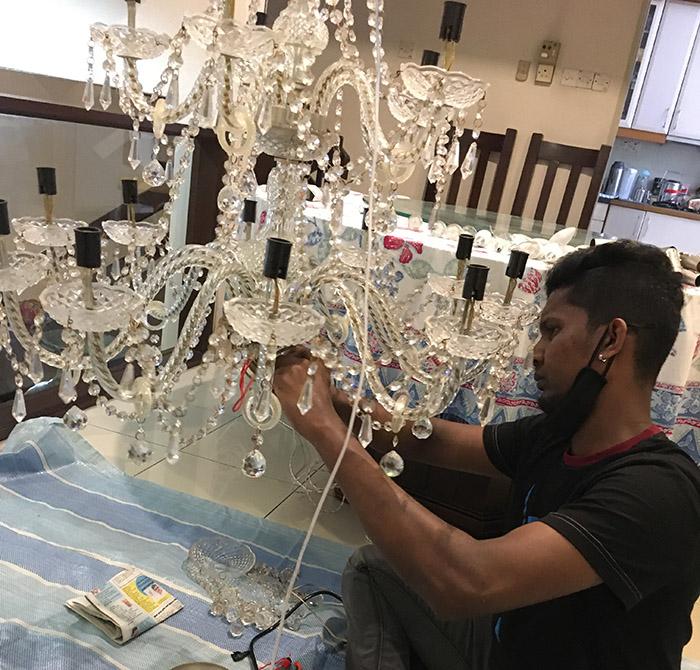 repair chandelier